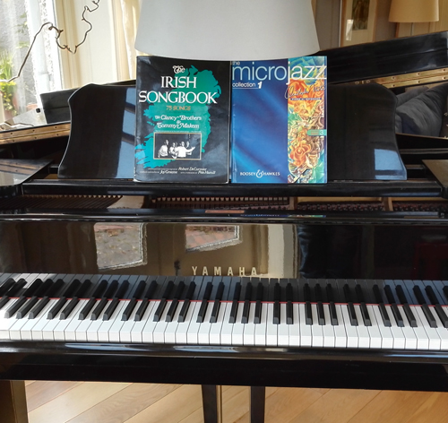 Music lesson books on Piano