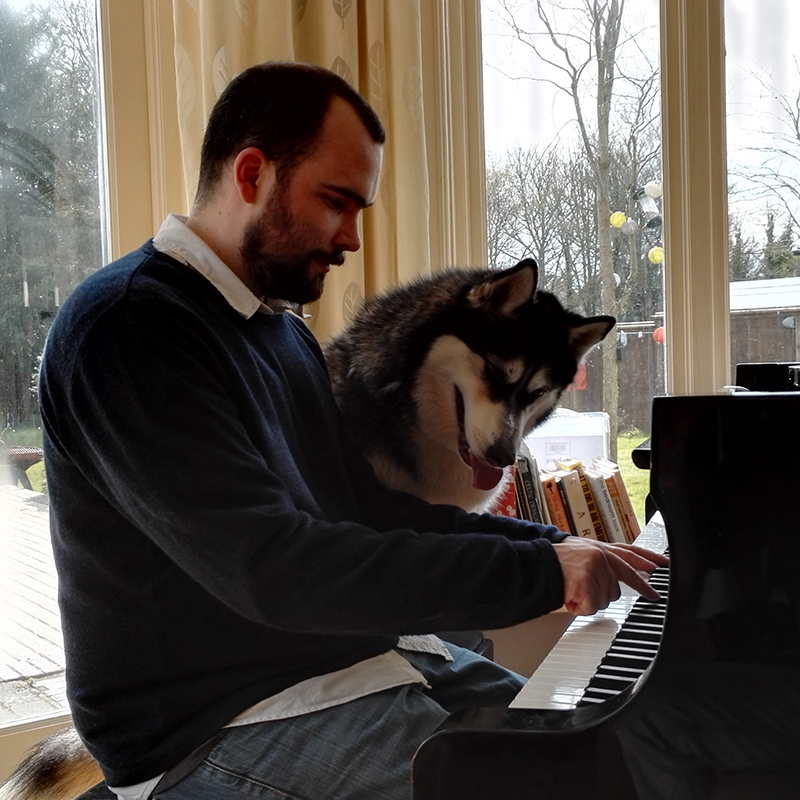 Peter Teaching Piano to Cassie