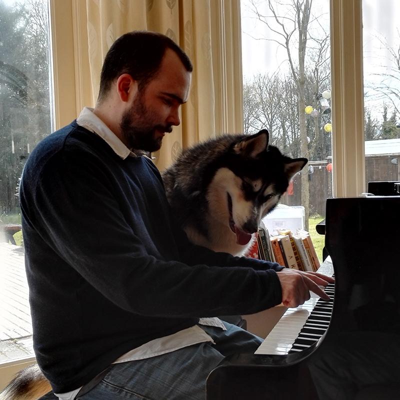 Peter Teaching Piano to Cassie